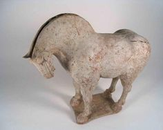 Dynamic Tang Dynasty Pottery Horse (item #399564, detailed views)