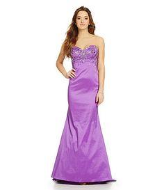 02bd5098d Jump Strapless Beaded Taffeta Gown Junior Dresses, Formal Prom, Dillards,  Homecoming, Strapless