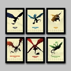 How To Train Your Dragon Minimalist Movie Poster by BigTimePosters