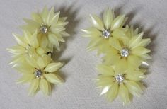 Vintage 50s Earrings Big Climbers Clip On by PopRocksNSodaVintage