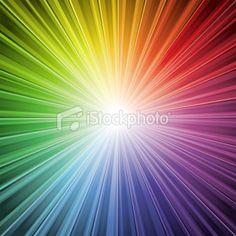 Spectrum light Burst Background Royalty Free Stock Vector Art Illustration