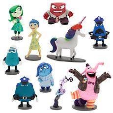 Kit miniatura de bonequinhos com as personagens do filme 'Inside Out'; Inside Out Deluxe Figure Play Set