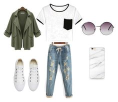 """""""Comfy travel outfit"""" by taylartillman on Polyvore featuring Chicnova Fashion, Converse and Monki"""