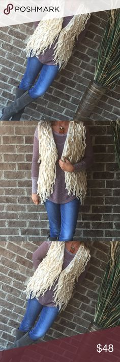 Gorgeous Fringe Vest Beautiful Fringed Vest with clip to close or just keep open❤️ STUNNING Sweaters