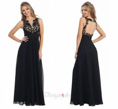 Applique Scoop Beading A-line Prom Homecoming Dress