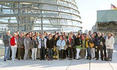 30. September 2013: Kommunalpolitiker und Verwaltungsmitarbeiter aus Bleicherode und Umgebung stiegen auf's Dach des Reichstages.