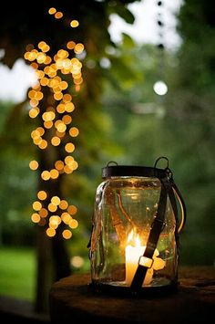 Romantic and magical outdoor lighting