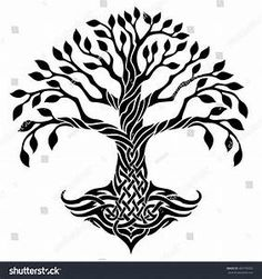 Black And White Celtic Tree Pictures to Pin on Pinterest ...