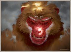 I am the King by LASAHIDO Character Concept, Character Art, Concept Art, Character Design, The Legend Of Monkey, Monkey Illustration, Journey To The West, Fantasy Races, Monkey King
