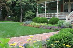 Landscape for a period house in Ridgefield, CT - traditional - exterior - new york - by Designing Eden llc