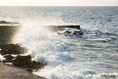 Breaking waves at El Malecón, Havana, Cuba.