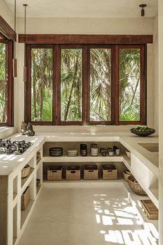 Maisons de terre || Treehouse à Tylum au Mexique par Annabel Kutucu