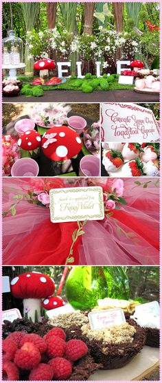 Cute little girls fairy or garden party