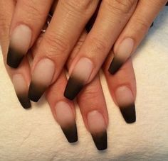matte gradient french manicure