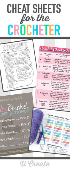 Cheat Sheets for the Crocheting Crafter ❥ 4U // hf http://www.pinterest.com/hilariafina/