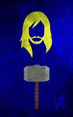 Thor Superhero Poster. Superhero Minimalist Posters by Calvin Lin.