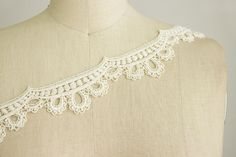 SALE 10% OFF Ivory Cream Victorian Venice Lace by CraftCabaret