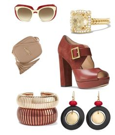 """""""Untitled #71"""" by najia17-2007 on Polyvore featuring Michael Kors, Dolce&Gabbana, Rosantica, Chico's, David Yurman and Yves Saint Laurent"""