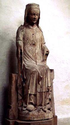 Madonna Tofta, region of Gotland, Sweden Made in Gotland, oak 1350-1375