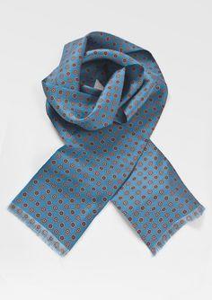 A classic menswear piece: The blue silk scarf