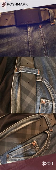 Men's Burberry belt size 32/34 Gently used Burberry men's belt Burberry Accessories Belts