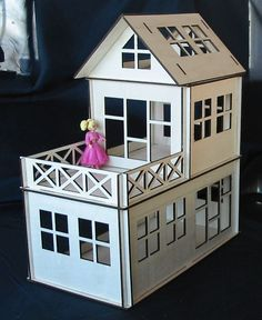 Wooden Dollhouse Plywood Kit Type A by nikolaosmalengos on Etsy