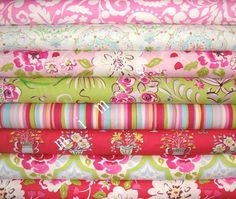Tea Garden Fabric /  Dena Designs / 8 Half Yard Bundle  by mimis, $38.00