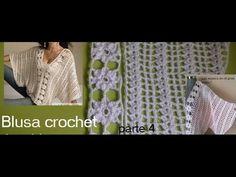 Blusa crochet tipo kimono ( parte 4)
