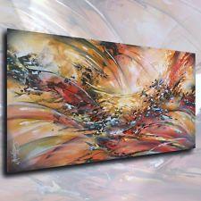 "Abstract Painting 48"" Modern Art Contemporary Interior DECOR Mix Lang Original"