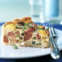 Recept - Groene-kooltaart met chorizo en kaas - Allerhande