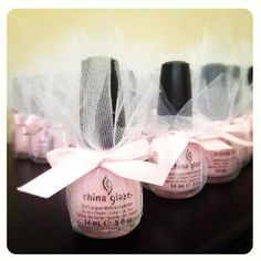 Super cute shower favors... Bridal or Baby. Something that can actually be used & appreciated!