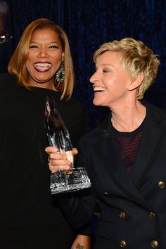 Queen Latifah celebrated with Ellen DeGeneres