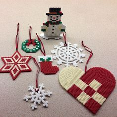 Christmas ornaments hama perler beads by birkensting