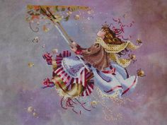 Touching the Autumn Sky cross stitch from Mirabilia Designs