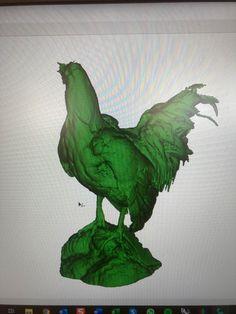 Täytetty kana 3D-mallina. Grinch, Rooster, 3d, Animals, Animales, Animaux, Animal, Animais, Chicken
