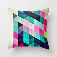 Throw Pillows featuring Cyrvynne xyx by Spires