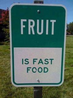 Fruit Is Fast Food #Fitness