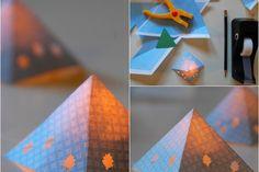 lanterne en papier -faire-soi-même-décoration-table-automne