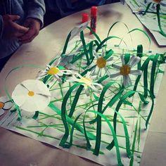 Jardin suspendu de printemps Feuille A3, Plastic Cutting Board, Blog, Gardens, Spring, Visual Arts, Posters, Flowers, Blogging