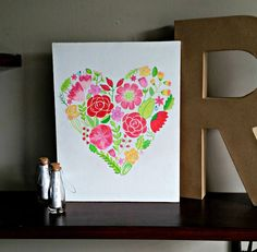 Floral Heart by BabyJuliette on Etsy