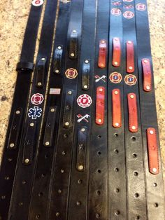 Custom Leather Radio Straps - mic clips