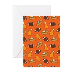 Funny Thanksgiving pattern in a cartoon style with turkey drumsticks, footballs and pumpkin pie! Enjoy Turkey Day with this whimsical design for football fans! Offered as greeting cards, throw pillows, blankets, and more decor at CafePress > http://www.cafepress.com/dd/107461596  #TurkeyDay #Football #PumpkinPie #Thanksgiving #Turkey #Funny #CafePress