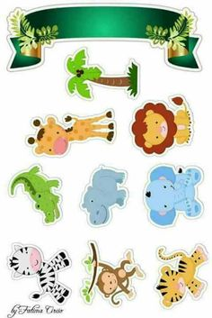 Set of 6 Safari Animals Foam Decorations for a Baby Shower 3 different sizes great jungle themed centerpieces Safari Party, Safari Jungle, Jungle Party, Safari Theme, Jungle Theme, Safari Animals, Safari Cakes, Baby Scrapbook, Kids Cards