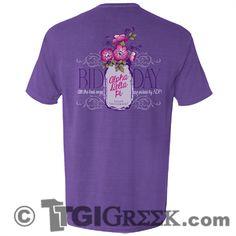 TGI Greek - Alpha Delta Pi - Comfort Colors - Bid Day - Recruitment - Greek T-shirts #TGIGreek #AlphaDeltaPi