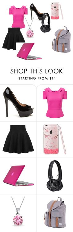 """""""Sakura"""" by tokyocity7 on Polyvore featuring Roland Mouret, WithChic, Speck, Master & Dynamic, Bling Jewelry and Herschel Supply Co."""