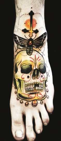 Moth and sugar skull by Adriaan Machete