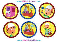 Handy Manny Cupcake Toppers Instant Download por KiddiePrintables