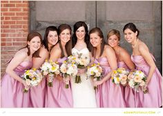 Pretty in Pink.  Pink Bridesmaids Dresses.  Bridesmaid Beauties.
