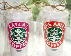 Personalized Reusable Starbucks Cup Gift BPA-Free by maevelymade