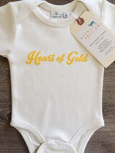 Heart of Gold Organic Baby One Piece – Urban Baby Co.